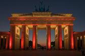 Brandenburg Gate in the red light 01 — Stock Photo