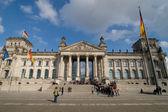 Stürzender Reichstag — Stock Photo
