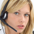 Headset nah — Stock Photo