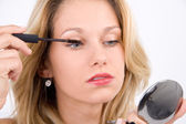 Wimpern tuschen — Stock Photo