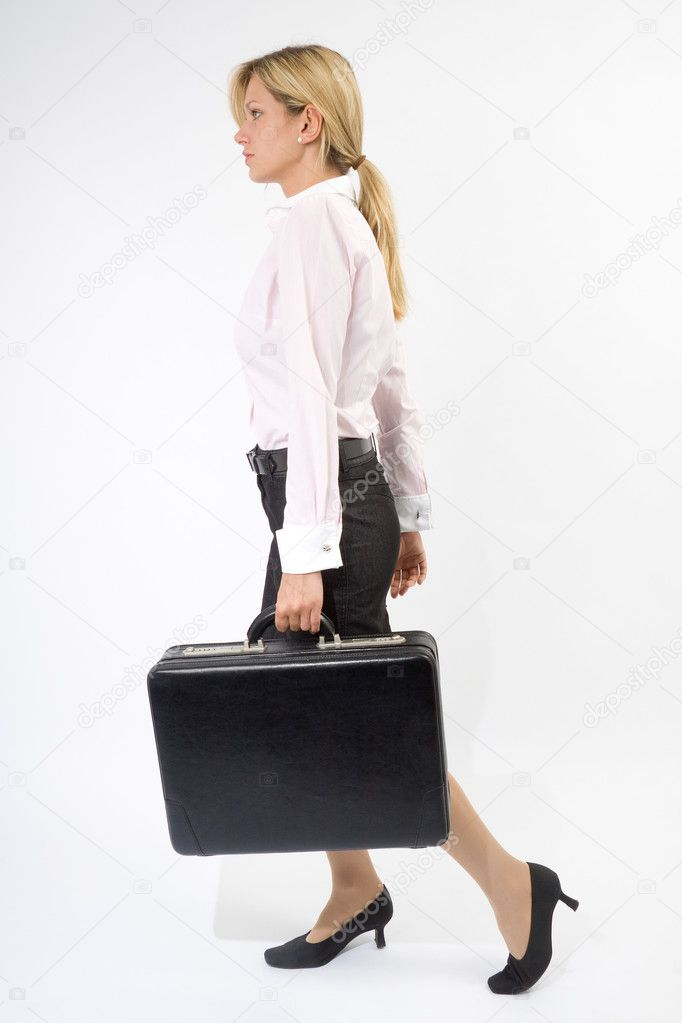 Junge Frau mit Aktentasche  Stock Photo #4717446
