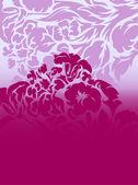 Flower purple background flower ornament — Stock Vector