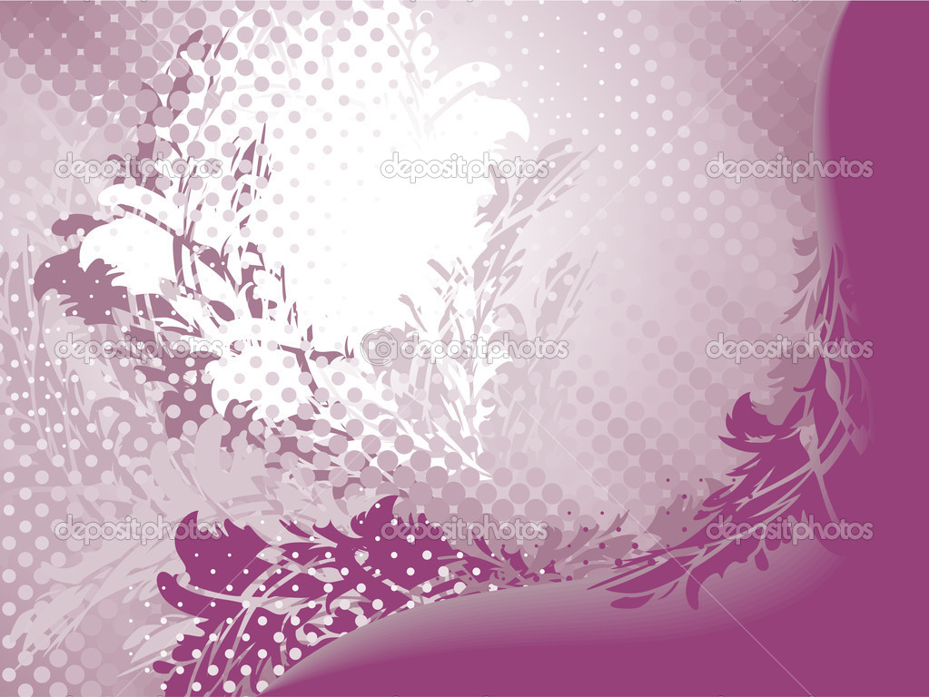 Purple white abstract flower background stock illustration