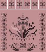 Decor elegant element in pink tones — Stock Vector