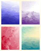 Set abstract smooth soft color background — Stock Vector
