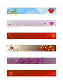 "Set backgrounds for banners ""Valentine's day"" — Stock Vector"