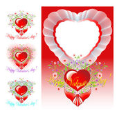 Set of congratulations Valentine's day — Stock Vector