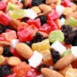 Dried fruits and nuts collection — Stock Photo