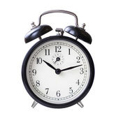 Black retro alarm clock — Stock Photo