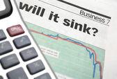 Business...will it sink? — Стоковое фото