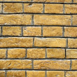 Yellow brick wall — Stock Photo
