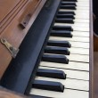 Antique Piano Keyboard - Stock Photo