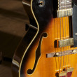 Jazz Guitar on stand - ストック写真