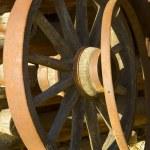 Antique wagon wheels — Stock Photo #4805106