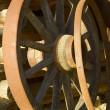 Antique wagon wheels — Stock Photo