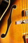 F hole on Jazz guitar — Stock Photo