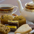 Stock Photo: English Tea and desserts