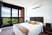 Bedroom with a View — Stock Photo