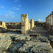 Ruins of ancient temple at Paphos, Cyprus. - Stock Photo