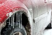 Car in ice — Stock Photo