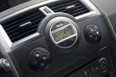 Car interior with climat-control view. — Stock Photo
