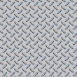 Diamond plate texture gray - blue - Stock Photo