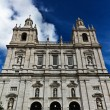 Famous church and monastery Sao Vicente de Fora in Lisbon — Stock Photo
