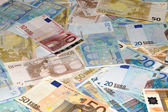 Background made of EURO money, a lot of Euro — Stock Photo