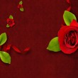 Invitation or congratulation card for Valentine's day with rose — Stock Photo