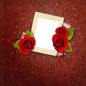 Beautiful Valentine's card with frame — Stock Photo
