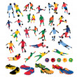 Soccer players silhouettes — Stock Vector #4609536