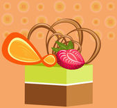 Cake fruit — Stockvector