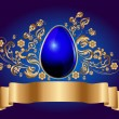 Golden egg - easter background — Stock Vector #4967086