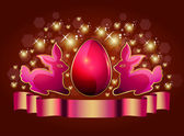 Easter eggs and glosses — Vector de stock