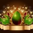 Royalty-Free Stock Vector Image: Easter egg and rabbits background