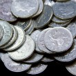 Silver British coinage — Stock Photo #4639189