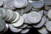 Silver British coinage — Stock Photo
