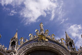 Facade of St Mark`s basilica — Stock Photo