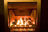 Gas fire — Stock Photo