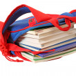 School bag with books - Stock Photo