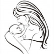 Mother and child concept — Stock Vector