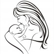 Stock Vector: Mother and child concept