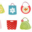 Royalty-Free Stock Vector Image: Shopping bags set