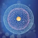 Berillium atom structure — Stock Vector