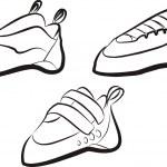 Climbing shoes set — Stock Vector