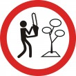 No cutting trees ecological sign — Image vectorielle
