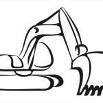 Excavator symbol — Stock Vector #4646671