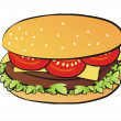 Cheseeburger isolated illustration — Stockvektor