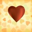 Silk hearts — Stock Vector