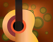 Classic guitar on the background — Stock Vector